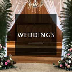 image of wedding isle with lace drapes